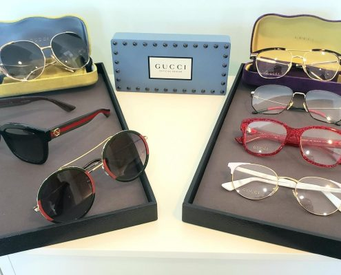 gucci frames displayed