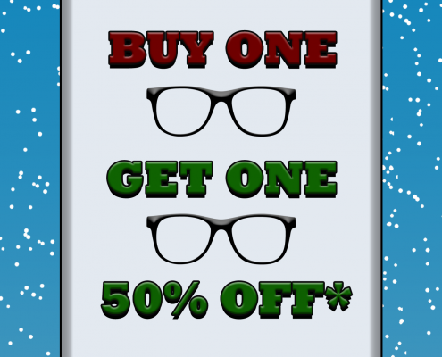 Buy one pair get a second pair 50% off